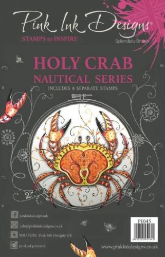 Pink Ink A5 Holy Crab Clear Stamp Set